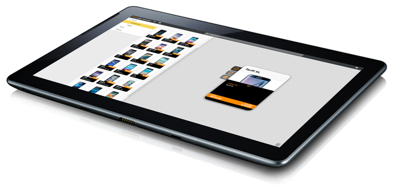 NTS Retail's guided selling software running on tablet