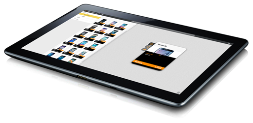 NTS Retail's guided selling software running on tablet image small