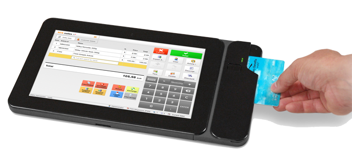 Nts Mobile Pos Software Running On Tablet