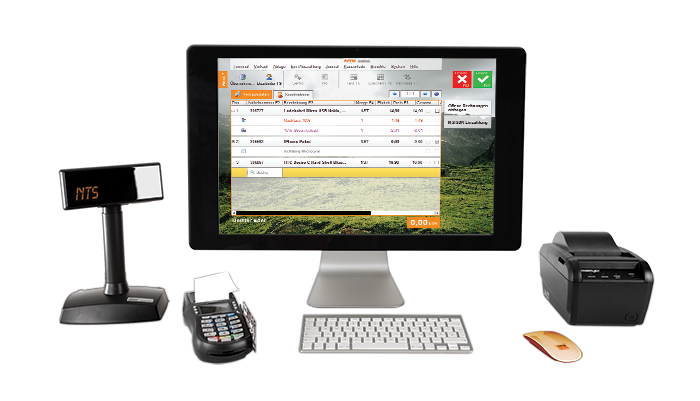 NTS Point of Sale software with peripherals