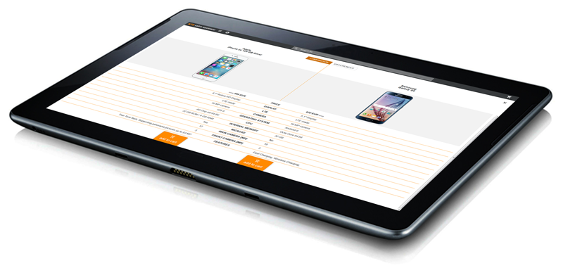 NTS Retail software running on tablet
