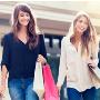 Women explore shopping experience