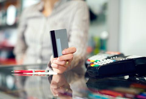 credit card at checkout