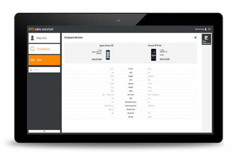 Product Catalog Software on iPad