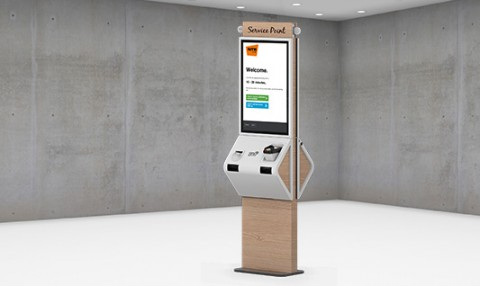 Queuing with kiosk