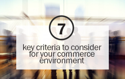 7 key criteria for commerce environment