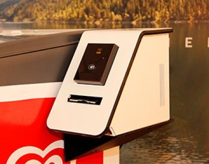 Digital honesty box with an ice cream cooler