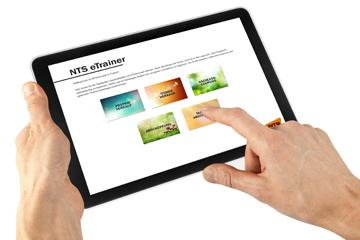 NTS eTrainer software running on tablet