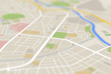 Abstract illustration of a city map image small