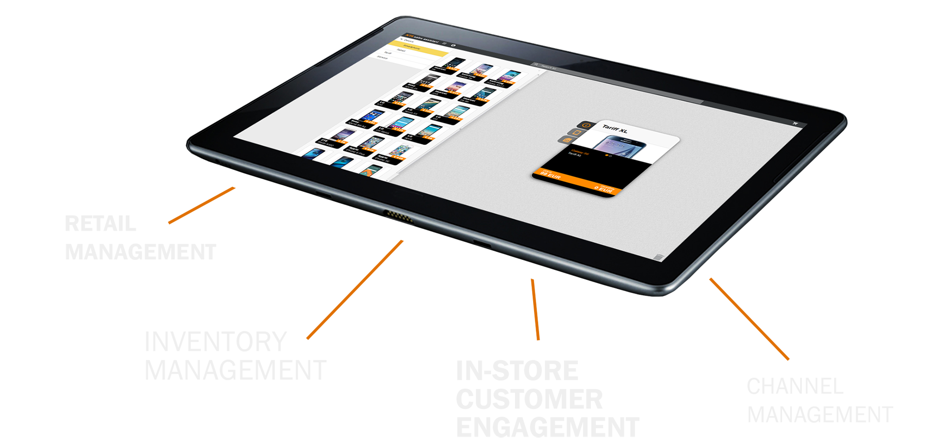 NTS Retail Management Software running on Tablet